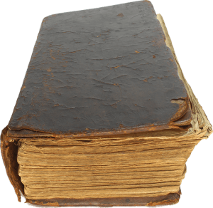 Die Bibel ist für Kinder schwer zu lesen da sie zu umfangreich ist. Das Bild zeigt eine Bibel für Erwachsene